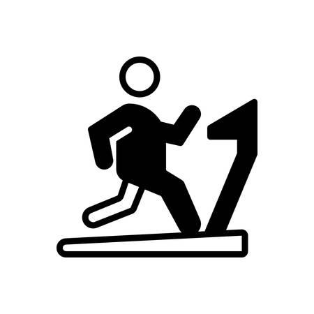 Ikona do ćwiczeń, siłowni Ilustracje wektorowe