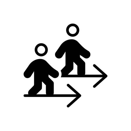 Icon for go,walk Ilustracja