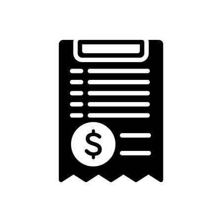 Icon for bill,paper Illusztráció