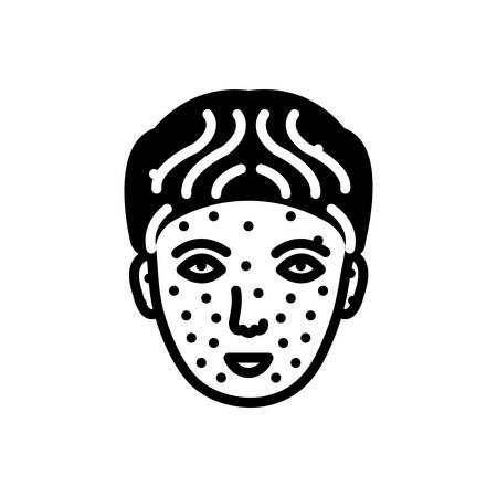 Icon for chickenpox,medical Ilustracja