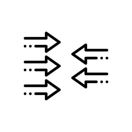Icon for contrary,against Illusztráció
