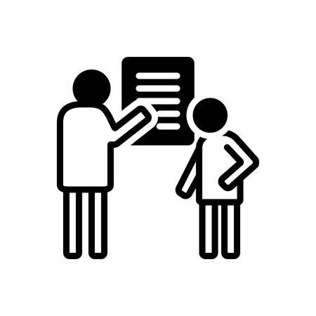 Icon for debrief,communication