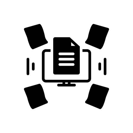 Icon for dematerialisation,paperless Vector Illustration