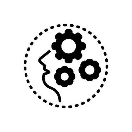 Icon for dementia,craziness Stock Illustratie