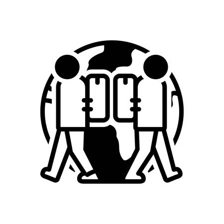 Icon for expat,expatriate