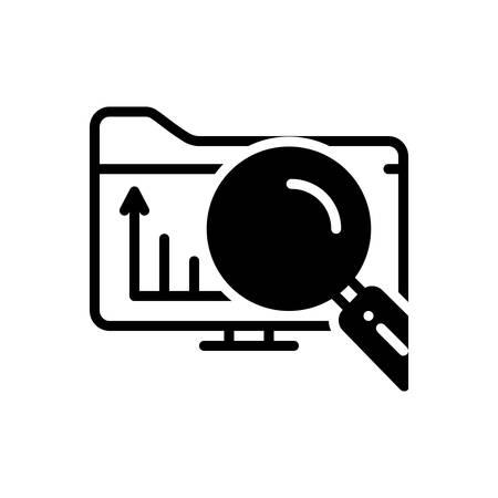 Icon for exploratory,explorative Ilustrace