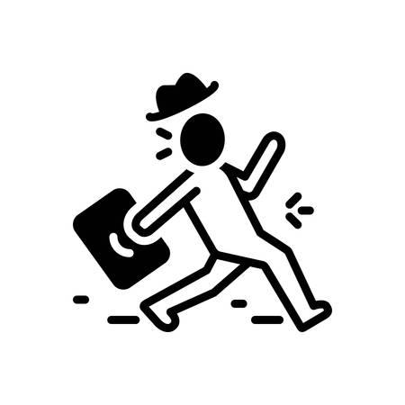 Icon for frantic,frenetic Illustration
