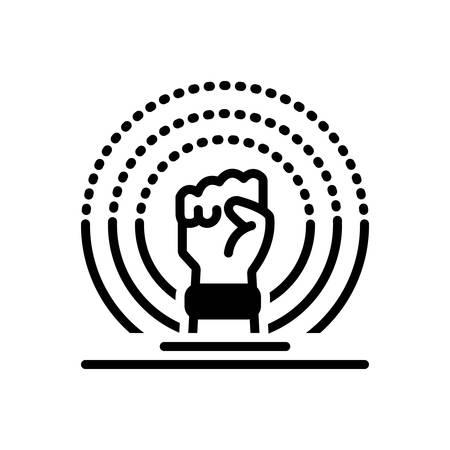 Icon for ferguson,revolution Ilustração