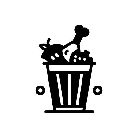 Icon for food waste, vegetables