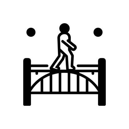 Icon for footbridge,walking