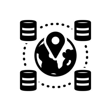Icon for geospatial,locations Ilustração