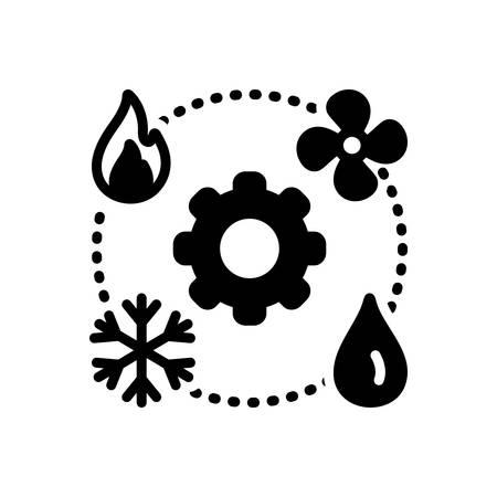 Icon for hvac,technician