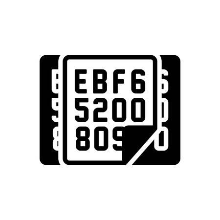 Icon for hexadecimal,data