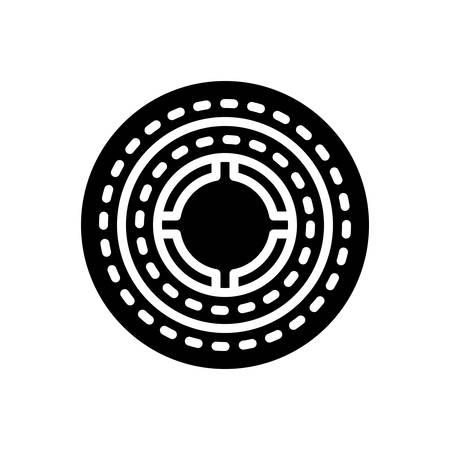 Icon for round,circular  イラスト・ベクター素材