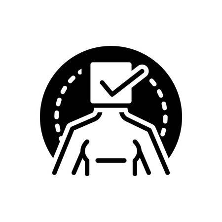 Icon for true  イラスト・ベクター素材