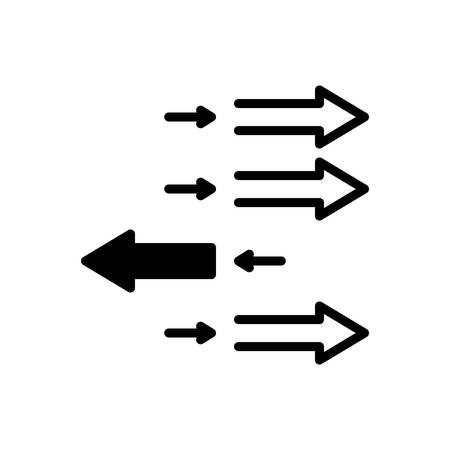 Icon for individualization,arrow
