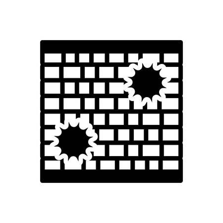 Icon for wall,enclosure Ilustração