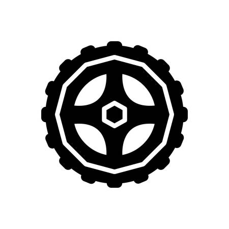 Icon for wheel, motorycle
