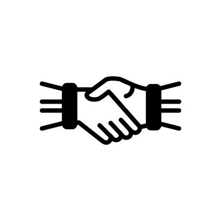 Icon for hand shake,hand