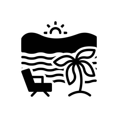 Icon for beach, seaside Illustration