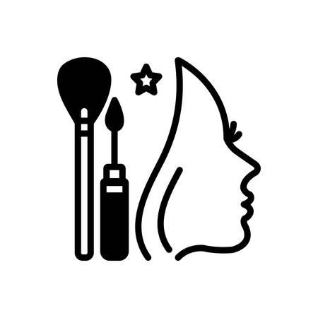 Icône pour le relooking, maquillage Vecteurs