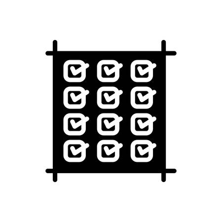 Icon for check, list Banque d'images - 138897014