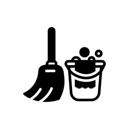 Icon for cleaning, wash Çizim