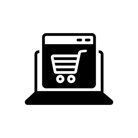 Icon for ecommerce, online Illustration