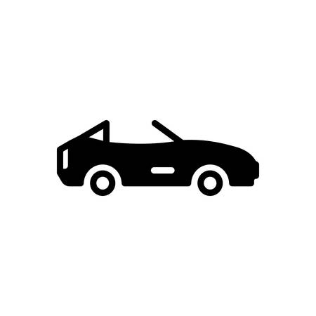 Icon for cabriolet,motor car