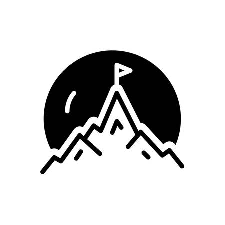 Icon for mountaintop,hill Illusztráció