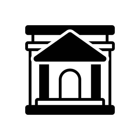 Icon for bank,building