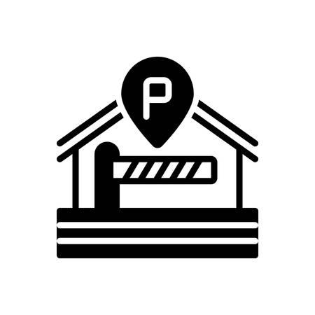 Icon for parking,barrier