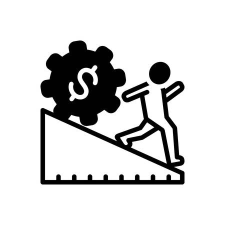 Icon for overreach Vectores