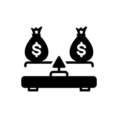 Icon for budget balance,balance Ilustrace