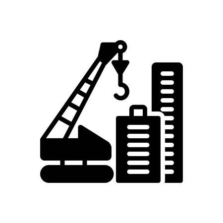 Icon for crane building, construction