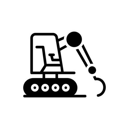 Icon for excavator ,equipment Vetores