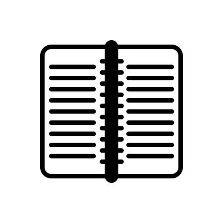 Icon for work book, publication 向量圖像