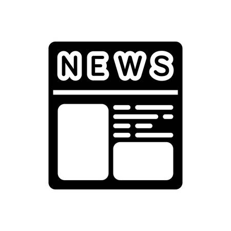 Icon for newspaper ads, newspaper