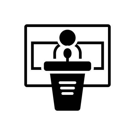 Icon for conference, seminar Ilustrace