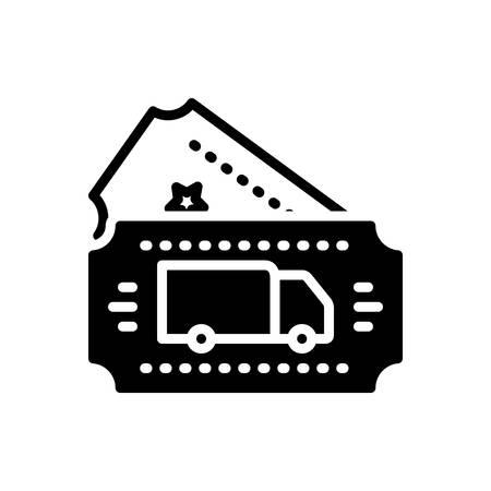 Icon for transport ticket,transport,ticket 矢量图像