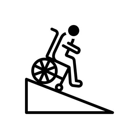 Icon for ramp,handicap Ilustrace