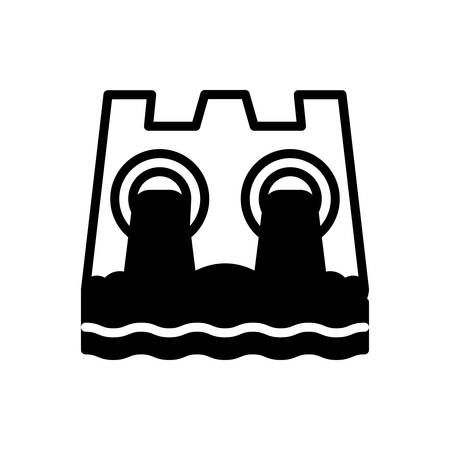 Icon for hydro power, dam
