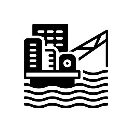 Icon for offshore platform ,oil platform