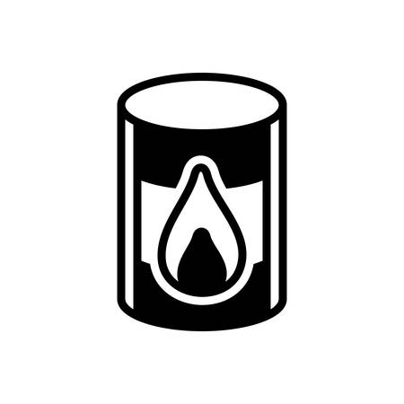 Icon for oil barrel, barrel Stock Illustratie