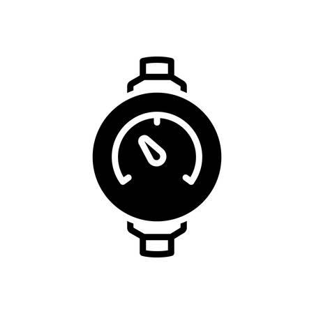 Icono de medidor de presión, manómetro