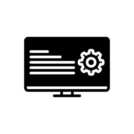 Icon for programmatic,coding Ilustrace