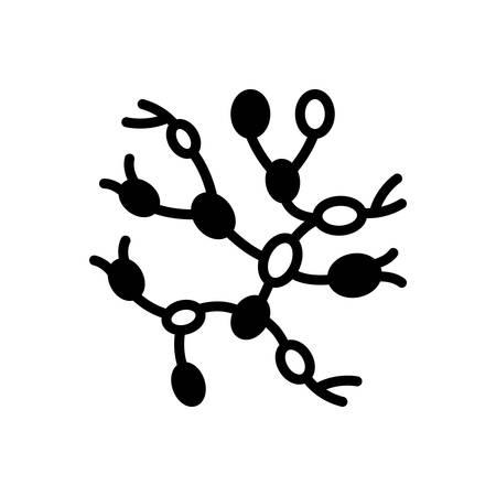 Icon for lymph nodes,vessel Vector Illustration