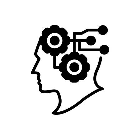 Icon for intelligence,intellect Illustration