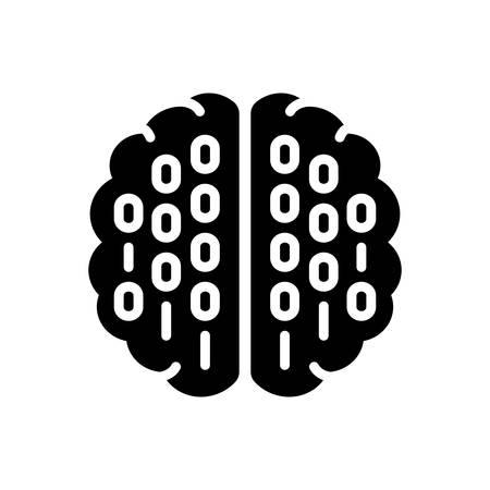 Icon for binary mind,processor