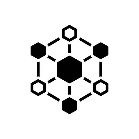 Icon for hexagonal interconnections,interconnectivity 矢量图像